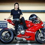 Women Ducati 1199/1299 Panigale, ducati panigale hot babe (1) a person sitting on a Ducati 1199/1299 Panigale sportbike