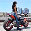 Women Aprilia RSV4/RSV4R, Hot babe with a cool motorcycle!