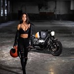 Women MV F4 750cc, a person riding on the back of a motorcycle a person riding on a MV F4750 Sportbike