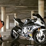Women BMW S1000RR, a person sitting on a motorcycle