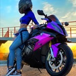 Women BMW S1000RR, a person sitting on a motorcycle a person sitting on a BMW S1000RR Sportbike