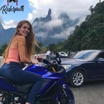 Women Yamaha YZF-R3, a woman sitting in a car posing for the camera