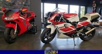 Production (Stock) Yamaha TZR250, 1991 Yamaha TZR 250 SP 2 a red 1991 Yamaha TZR250 parked in a room