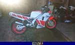 Production (Stock) Yamaha TZR250, a red and black Yamaha TZR250