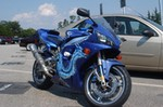 Production (Custom) Yamaha YZF-R1, <p>Yamaha R1, Blue Dragon Special award winning show bike, Entire bike color change with airbrushing done by Osyrus Designs in Woodbridge, Virginia. Tank and Dragon detailed with variation of blue. Look for this bike in New York, D.C. and Virginia.</p>