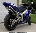 Production (Custom) Yamaha YZF-R1, <font color='blue'>Webmaster: This is my 2000 Yamaha R1. Mods include Dussault undertail with LED lights, Devil dual-shotgun exhaust, LP dark smoke windscreen, and carbon bits.</font>