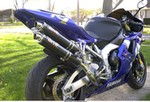 Production (Custom) Yamaha YZF-R1, A high resolution picture of my 2000 Yamaha R1. Mods include: Dussault undertail, Devil Shotgun exhaust, LP carbon look tank bra, carbon fiber inserts under fuel tank, LP carbon fiber engine case covers, ART carbon fiber frame covers, LP dark tinted screen, LP carbon turn signals, HID lights, and K&N air filter.