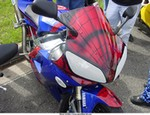 Production (Custom) Yamaha YZF-R1, A larger photo of the Spiderman R1 from biketoberfest.