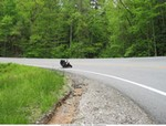 Production (Stock) Yamaha YZF-R1, getting a knee down in the mountains
