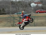 Stunts Yamaha YZF-R1, Recent stunt show at the opening of the movie 'Biker Boyz' in OKC, OK.