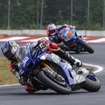 Misc. Racing Yamaha YZF-R1, a man riding a motorcycle on a track
