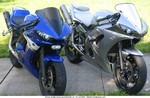 Production (Custom) Yamaha YZF-R6, 03 Silver and 04 Blue(has HID) both have Ultimate Headlight Conversion