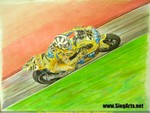 Drawings & Art Yamaha YZR-M1 MotoGP, Valentino Rossi artwork. Color pencils on (white) canson colorline paper, 65x55cm. Hope you like it.