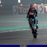 Stunts Yamaha YZR-M1 MotoGP, a person riding a motorcycle on a track a person riding a 2019 Yamaha YZR-M1 Sportbike on a track