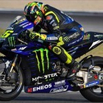 MotoGP Premier Yamaha YZR-M1 MotoGP, a person riding a motorcycle down a dirt road a person riding a 2019 Yamaha YZR-M1 Sportbike down a dirt road